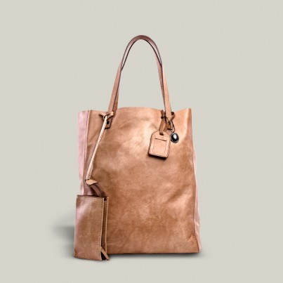Tinossi Camel Leather Tote