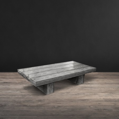 4 Beam coffee table shown in Reclaimed Wood & Acrylic