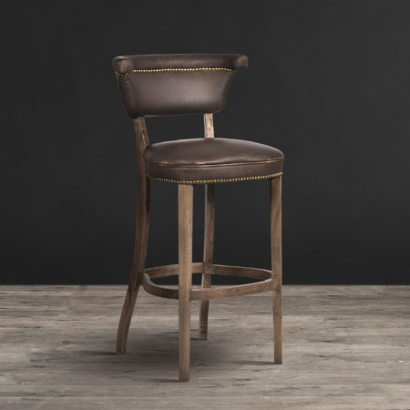 Angeles barstool- Vagabond Brown & Weathered Oak