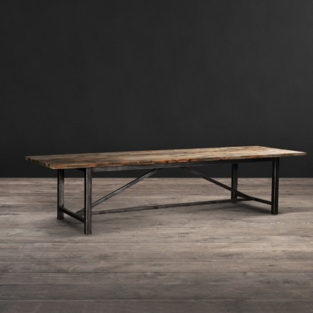 Dining Table - Pine top - Genuine Reclaimed Natural bleached Boat Wood, Natural