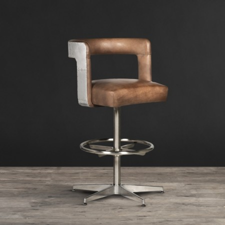 Barstool in Savage leather