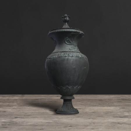 Classical Garden Chatsworth Urn shown in Vintage Black