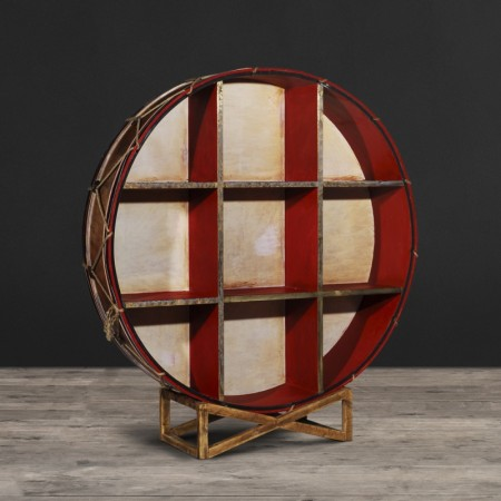 Bookcase Drum - Wood