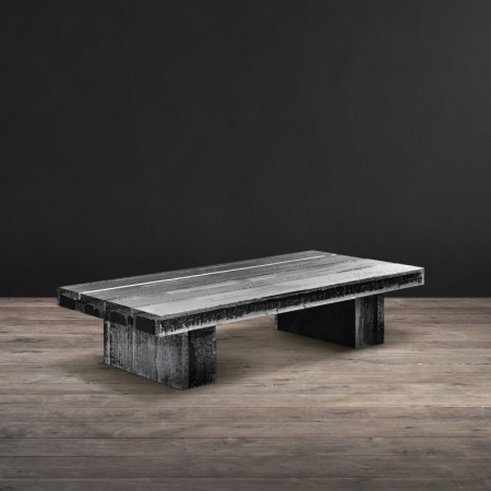 Glacier coffee table Burnt Wood & Arcrylic