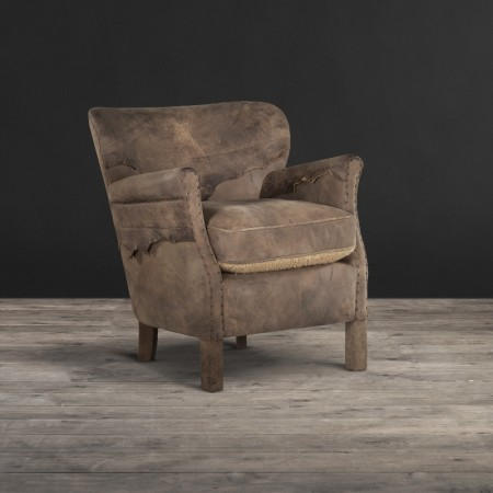 Mad Professor chair shown in Scarecrow Black & 2 Face leather