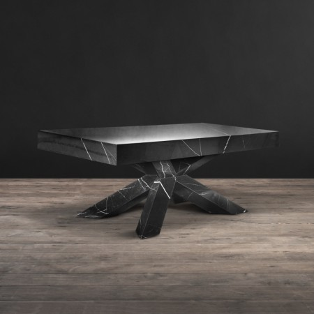 Dining table - Black Polished Marble