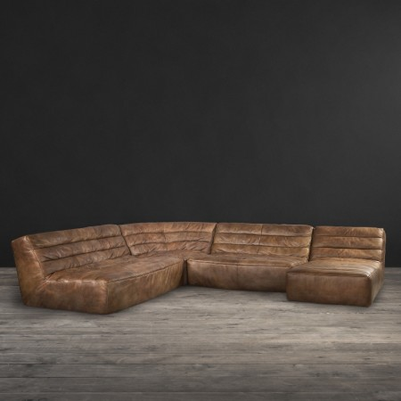 Sectional sofa - Savage leather