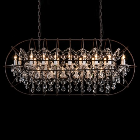 Gyro Crystal Rectangular Chandelier