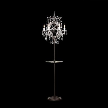 Crystal Floor Lamp with Tray