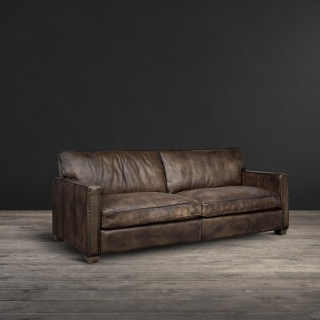 3 seater sofa in Vagabond Brown leather